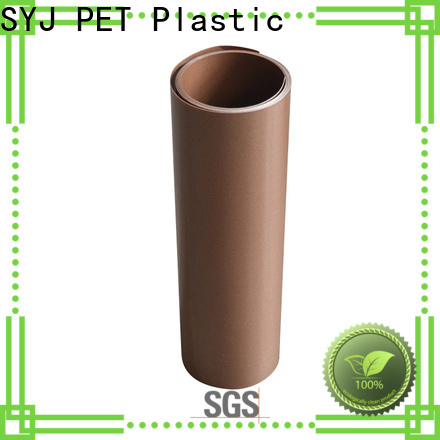 SYJ Best clear polyester sheet factory for food packaging